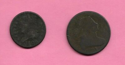 1801 Large One Cent Piece circulated