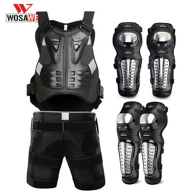 Armor Back Support Chest Protector Motocross Motorcycle Hip Pad Knee Elbow Guard