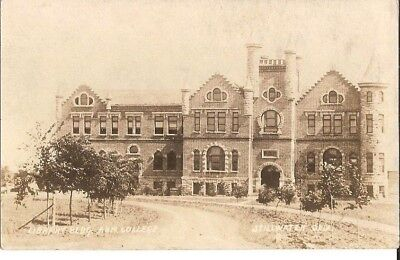 Vintage Real Photo Postcard Stillwater Oklahoma A & M College Library Building