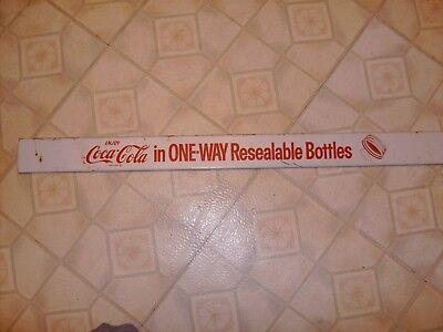 Vintage Coke Cola Metal Rack Sign In Original Condition. 26 Inches Long