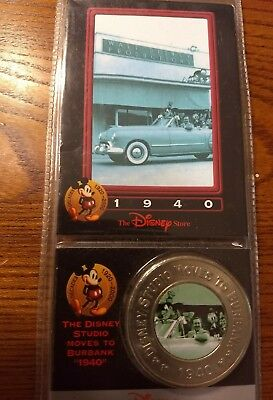 Disney Store Decades Millennium Coin #32 Studio Moves to Burbank 1940 NEW