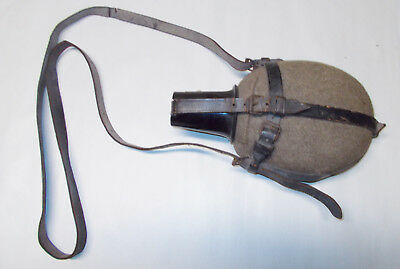 Original WWII German Army Medic's 1 Liter Canteen, Shoulder Harness