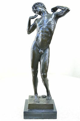 Solid Bronze Art Deco Style Outdoor/garden Statue Nude Man Male  Sculpture Figur