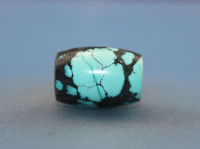 19*13 mm Antique Undressed dzi turquoise old Bead from Tibet **Free shipping**