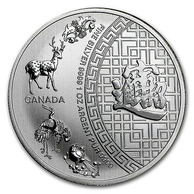 2016 ~ 1~Oz ~ $5 Canada ~ Pure .9999 Silver ~ 5 Blessings Coin ~ Sealed ~ $33.88