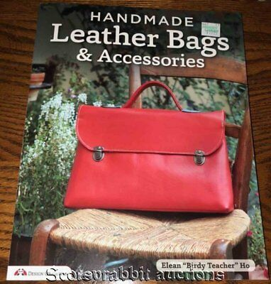 NEW Handmade LEATHER PURSE BAGS Accessories FULL SIZE Patterns & THICK BOOK