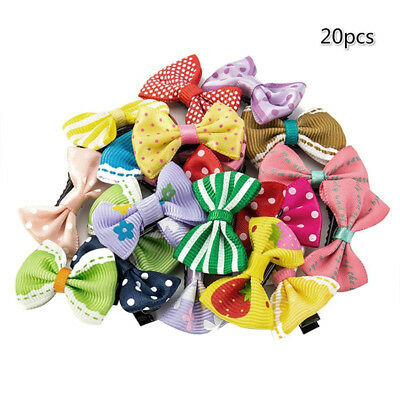 20Pcs Kids Baby Girls Mixed Color Flower Dot Bowknot Hair Clips Set Hairpin Sanw