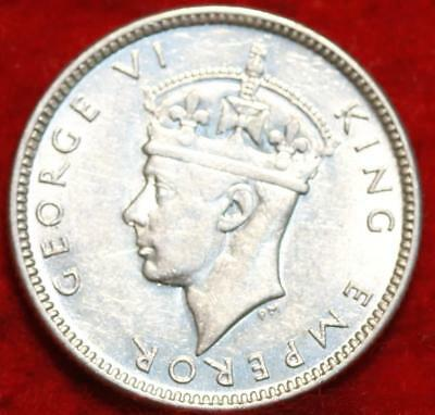 Uncirculated 1943-S Fiji Silver 6 Pence Foreign Coin