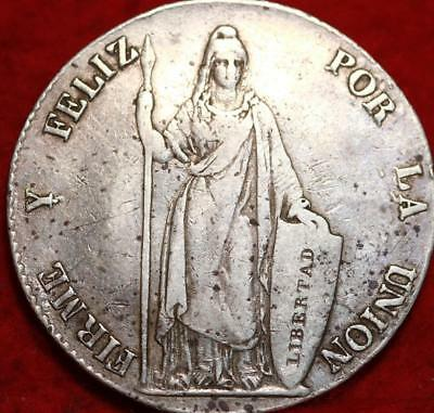 1843 Peru 8 Reales Silver Foreign Coin