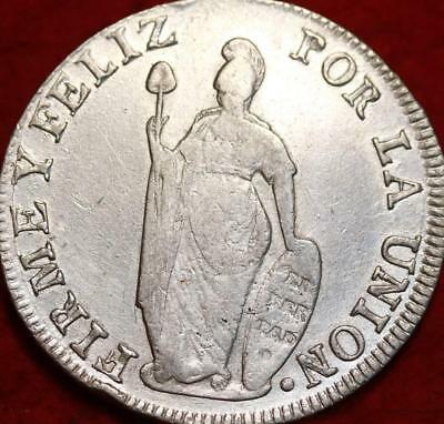 1840 Peru 8 Reales Silver Foreign Coin