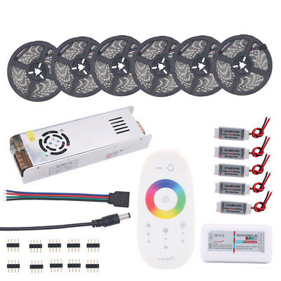 5-30M 5050 RGB LED Bande RGBW 12V Ruban + Touch + Alimentation + Amplificateur