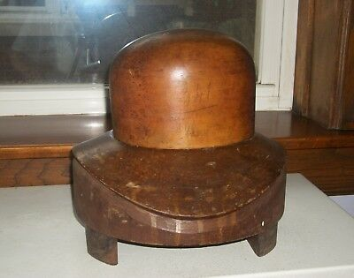 Two Piece Original Old Wooden Hat Mold Form  Circa 1900s – 1920s