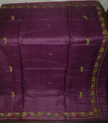 Antique Vintage Weaving Woven Pure Silk Sari Saree