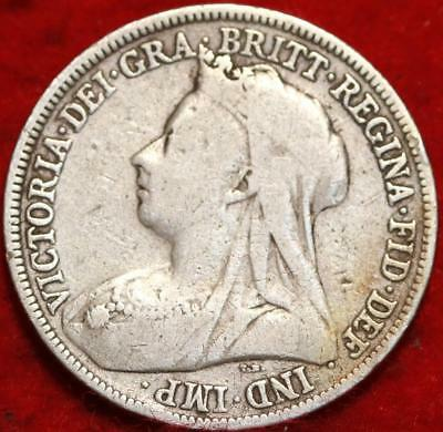 1896 Great Britain Shilling Silver Foreign Coin