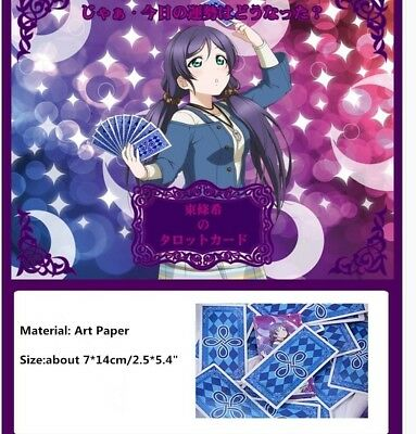 Hot LOVE LIVE! Nozomi Tojo Tarot Cards Cosplay Game One Set w 22pcs Main Cards