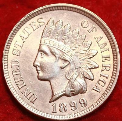 Uncirculated 1899 Red Philadelphia Mint  Indian Head Cent