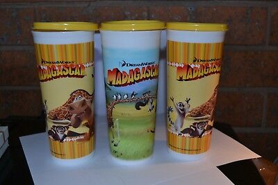 Tupperware Madagascar Tumblers X 3 With Lids - Brand New