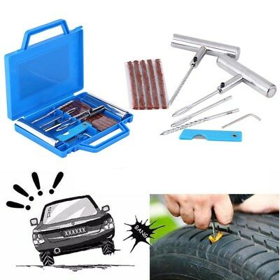 Car Motorcycle Tubeless Tyre Puncture Repair Kit Tire Plug Set Emergency Tools