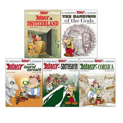 Asterix in Switzerland The Mansions of The Gods 5 Books Collection Set Brand NEW
