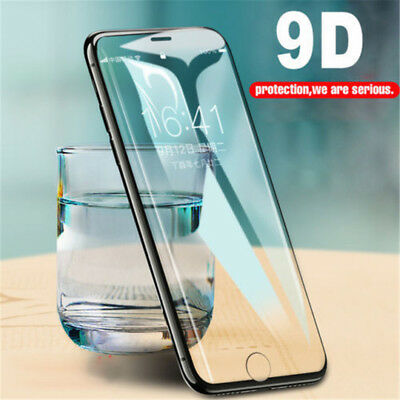 9D Curved Edge Tempered Glass Full Screen Protector Skin For iPhone X 6 7 8 Plus