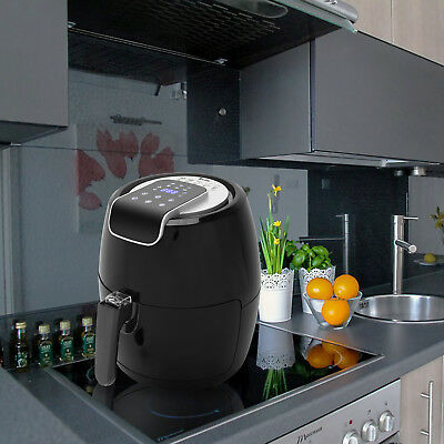 Air Fryer - Temperature Control, Healthy Oil-less, Screen Touch - 1500W Black