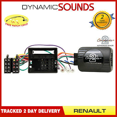 Steering Wheel Stalk Control Adaptor + FREE Patch Lead For Renault Scenic 2009>