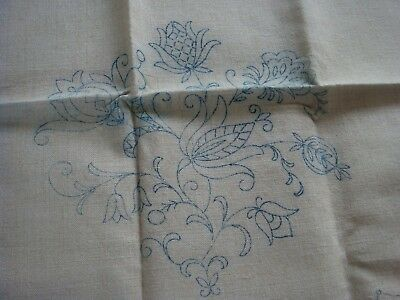 Vintage Matching Linen Cushion & Chair Back Cover Ready To Embroider New Craft
