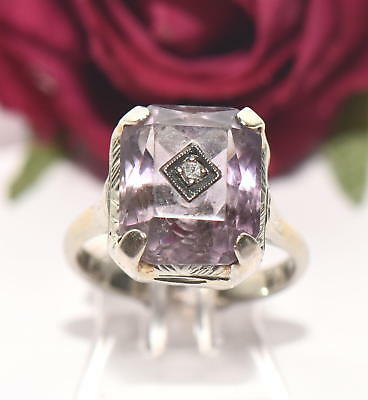 Art Deco Diamant Amethyst Ring Diamantring 950er Platin