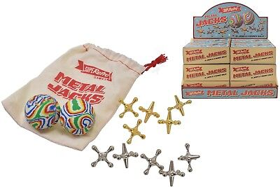 New Traditional Metal Jacks Game Family Kids Fun Classic Party Bag Filler Toy