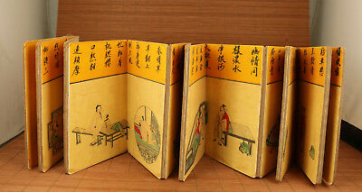 15 different scene Chinese Old Paper Painting art Statue Scroll Picture book