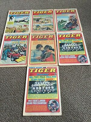 tiger and scorcher comics joblot-1970s