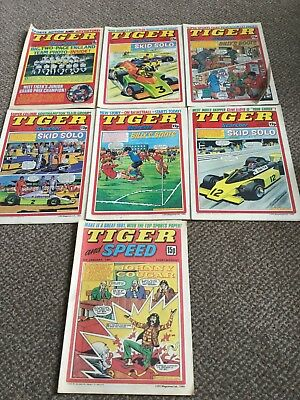 tiger and scorcher comics joblot 2- 1970s