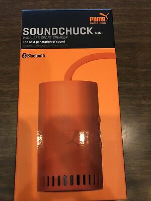 Puma Golf Soundchuck Mini Bluetooth Speaker - Orange - Brand New -