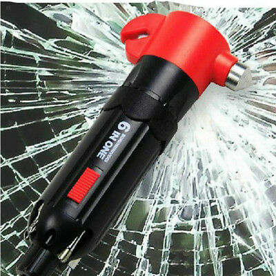Auto Car Emergency Hammer Window Glass Breaker LED Torch Seat Belt Cutter