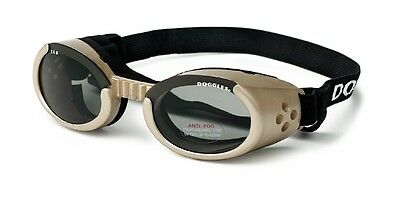 SUNGLASSES FOR DOGS by Doggles - CHROME FRAME/SMOKE LENS - LARGE