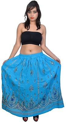 10 Pcs Women Floral Ancient Embroidery Flowers Maxi Skirt By Wevez