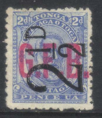 Tonga 1893 Official Surch Sgo7 Mh Cat £32