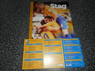 MANSFIELD TOWN  v  ACCRINGTON STANLEY   2018/19 CARABAO CUP  1st ROUND  ~ AUG 14