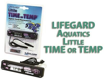 Lifegard Aquatics Little Time Or Temp Digital Aquarium Fish Tank Thermometer
