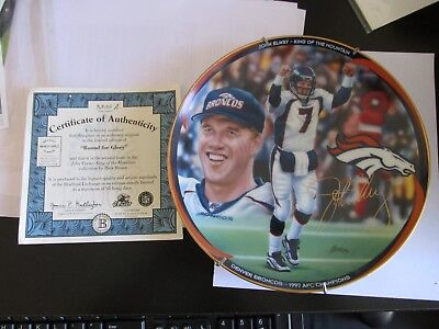 john elway king of the mountain collection (bound for glory ) plate COA
