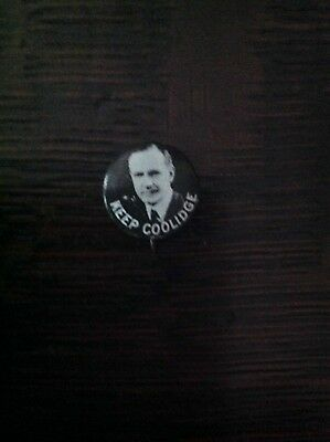 """Calvin Coolidge small ( 1/2"""") button """"Keep Coolidge"""""""
