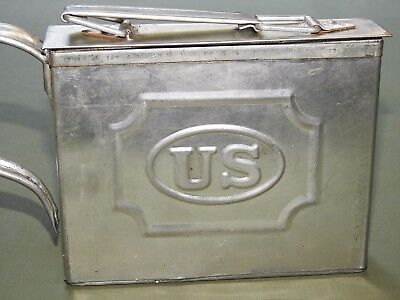 US Army Indian Wars M-1872 TINNED STEEL MEAT CAN EXC WPG Plains Mess Kit