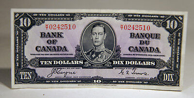 Canadain 1937 Ten Dollar Bill  - Bank Note