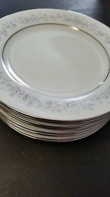 Noritake Contemporary Fine China Marywood Pattern Set of 8 Bread & Butter Plates