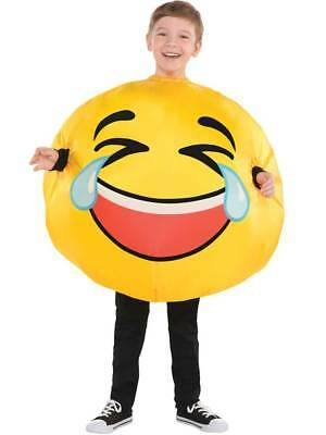 Child Inflatable Tears of Laughter Emoji Fancy Dress Emoticon Costume Boys Girls