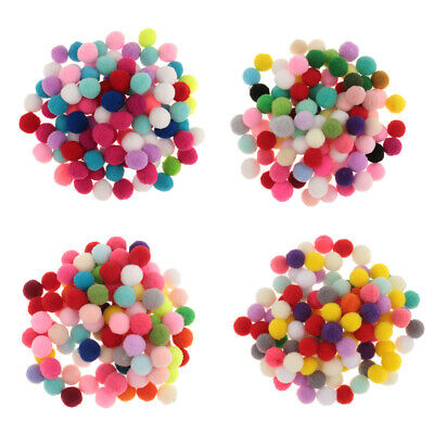 Mixed Colours Craft Pom Poms Mini Pompoms Kids Craft Project 10 15 20 30mm
