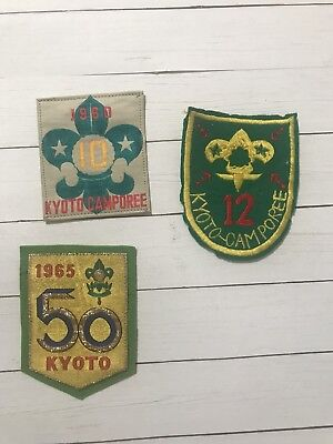 Lot Of 3 Kyoto Camporee Boyscout Patches