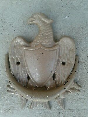 VTG heavy cast iron Federal EAGLE door knocker~Numbered and signed~