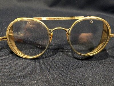 Vintage Bausch & Lomb Welding Glasses Motorcycle Goggles Steampunk Protective