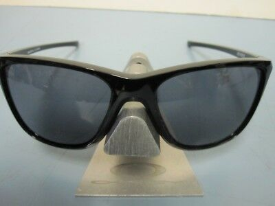 1d0ffc4c2a OAKLEY womens Reverie Sunglass Polished Black Grey OO9362-0155 New In Baggy